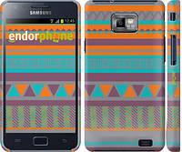 "Чехол на Samsung Galaxy S2 i9100 Узор v18 ""2956c-14"""