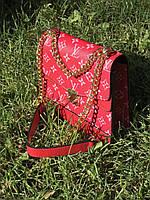 Клатч сумка женская  Louis Vuitton LV (реплика люкс) small red