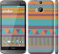"Чехол на HTC One M8 dual sim Узор v18 ""2956c-55"""