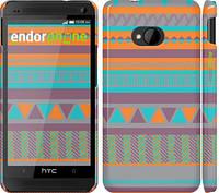 "Чехол на HTC One M7 Узор v18 ""2956c-36"""