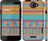 "Чехол на HTC One X Узор v18 ""2956c-42"""