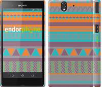"""Чехол на Sony Xperia Z C6602 Узор v18 """"2956c-40"""""""