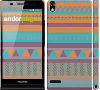 """Чехол на Huawei Ascend P6 Узор v18 """"2956c-39"""""""