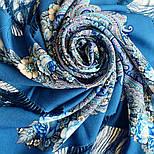 Золотой невод 1877-13, павлопосадский платок шерстяной (двуниточная шерсть) с шелковой бахромой, фото 5