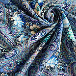 Золотой невод 1877-13, павлопосадский платок шерстяной (двуниточная шерсть) с шелковой бахромой, фото 7
