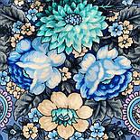Золотой невод 1877-13, павлопосадский платок шерстяной (двуниточная шерсть) с шелковой бахромой, фото 6