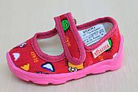 Тапочки в садик на девочку, текстильная обувь Vitaliya Виталия Украина, размеры р.19 по 22,5