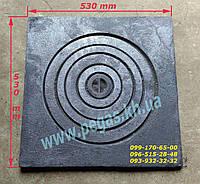 Плита чугунная под казан 530х530 мм барбекю, мангал, печи, фото 1