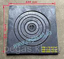 Плита чугунная под казан 530х530 мм барбекю, мангал, печи