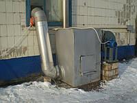 Отопление цеха. Воздушное отопление на дровах