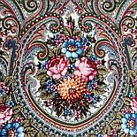 Золотой невод 1877-2, павлопосадский платок шерстяной (двуниточная шерсть) с шелковой бахромой, фото 2