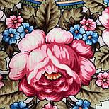 Золотой невод 1877-2, павлопосадский платок шерстяной (двуниточная шерсть) с шелковой бахромой, фото 5
