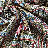 Золотой невод 1877-2, павлопосадский платок шерстяной (двуниточная шерсть) с шелковой бахромой, фото 7