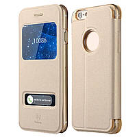 Чехол-книжка Baseus Terse Pure View Gold for iPhone 6 золотистый