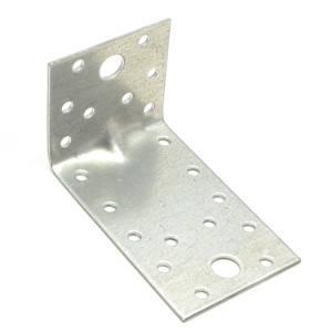 Уголок монтажный усиленный перфорированный асимметричный MMG 120 х 80 х 100 х 2 (Цинк) 1 шт