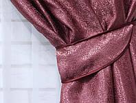 """Ткань блекаут - софт """"Люкс"""". Высота 2,85м. Цвет марсала. 399ш"""