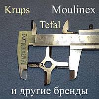 Ніж DP-03 для м'ясорубки Moulinex MS-4775250 і Krups (ширина 46 мм; ширина квадрата 8 мм)