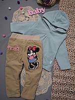 Комплект зимний 86 см, зимние утепленные штаны, детские зимние штаны, флиска, поддева, зимний костюм, свитер