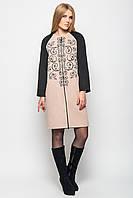 Стильное кашемировое пальто -17486 бежевое, фото 1