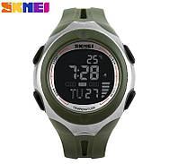 Часы Skmei D0953-57 часы с термометром Олива Хаки