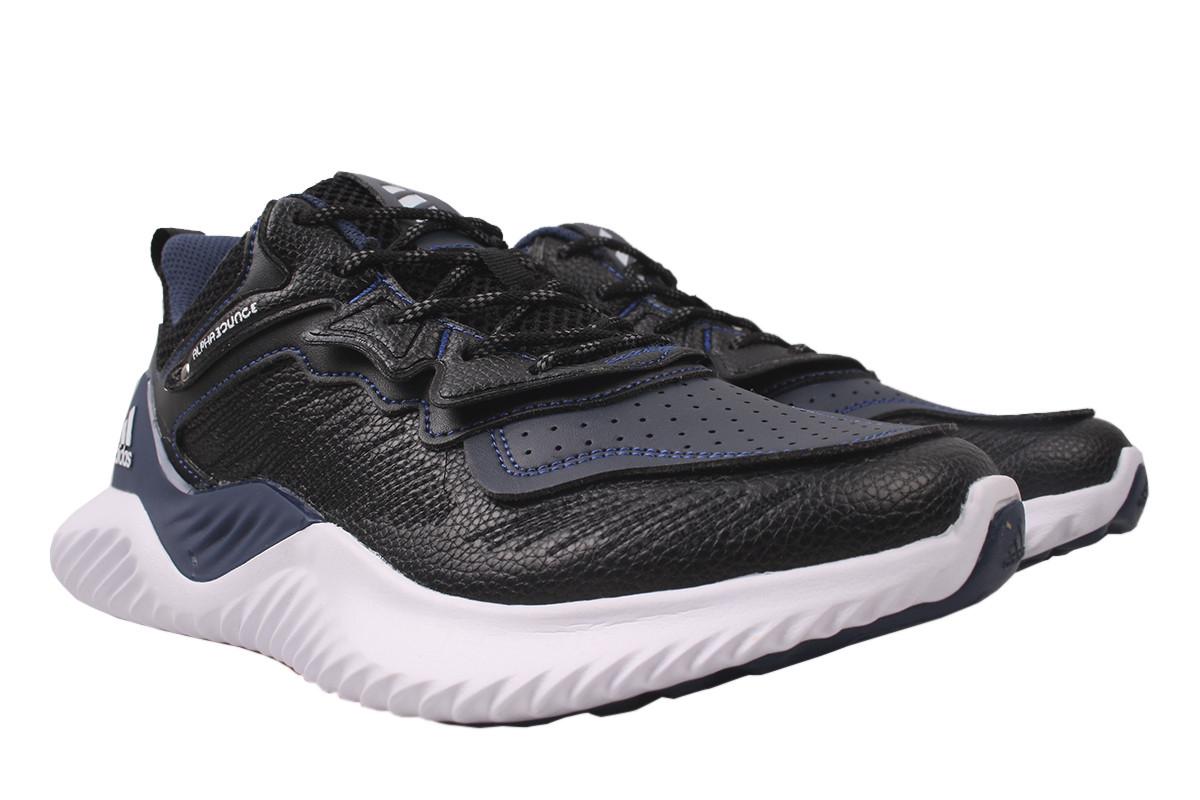 Кроссовки мужские Adidas натуральная кожа, цвет черный, размер 40-45