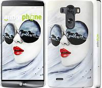 """Чехол на LG G3 dual D856 Девушка акварелью """"2829c-56"""""""