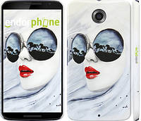 "Чехол на Motorola Nexus 6 Девушка акварелью ""2829c-67"""