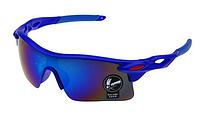 Мужские солнцезащитные очки спортивные синий корпус, Очки для спорта, для велосипеда