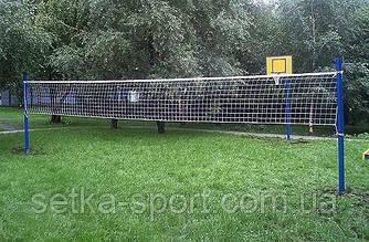 Волейбольная сетка 0.9*9м «Любитель-10» со шнуром натяжения! Ячейка 10 см. Ø шнура - 2,5 мм