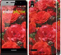 """Чехол на Huawei Ascend P6 Красные розы """"2895c-39"""""""