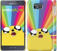 "Чехол на Samsung Galaxy Alpha G850F Adventure Time. Jake v3 ""2449c-65"""