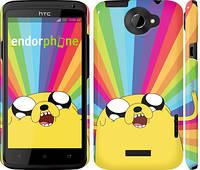 "Чехол на HTC One X Adventure Time. Jake v3 ""2449c-42"""