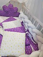 """Детское постельное белье в кроватку """"Коса"""", набор постельного белья в кроватку, комплект в детскую кроватку"""