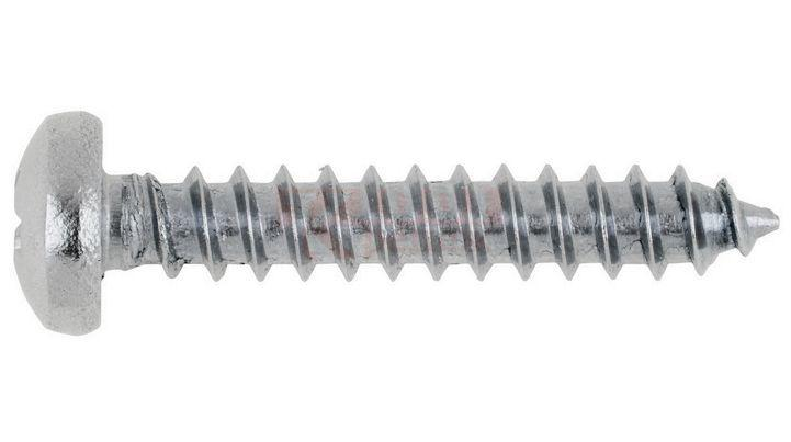 Саморіз по металу з напівкруглою головою з буром MMG DIN 7504 N 3.9 х 25 (Цинк) 100 шт