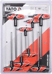 Набор шестигранных Т-образных ключей с шаром  8 шт (2.5-10 мм) YATO YT-05597 (Польша)