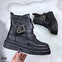 Ботинки женские эко кожа Зима 606