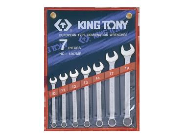 Набор ключей комби 7шт. (10-19мм) KING TONY 1207MR (Тайвань)