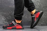 Кроссовки Мужские Adidas NMD Human Race,сетка,черные с красным