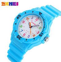 Детские часы Skmei Rubber Light Blue 50 метров водозащита