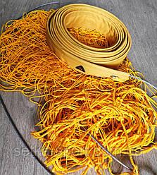 """Волейбольная сетка 1*9,5 м """"Игровая""""- с обшивкой по верхнему краю (ячейка 15 см,с тросом) Ø шнура - 2,5 мм."""