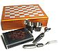 Мужской подарочный набор с флягой и шахматами №QZ8, фото 5