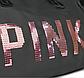 Большая женская сумка в стиле Victoria's Secret с пайетками Pink черная, фото 5