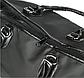 Большая женская сумка в стиле Victoria's Secret с пайетками Pink черная, фото 7