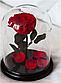 Роза в колбе с LED  подсветкой МАЛЕНЬКАЯ КРАСНАЯ, фото 2