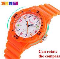 Детские часы Skmei Rubber Orange 50 метров водозащита