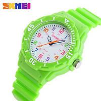 Детские часы Skmei Rubber Green 50 метров водозащита