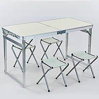 Стол складной для пикника (стол+4стула) 60х120см 8188