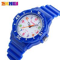 Детские часы Skmei Rubber Blue 50 метров водозащита