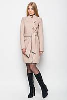 Стильное кашемировое пальто -17491 бежевое, фото 1