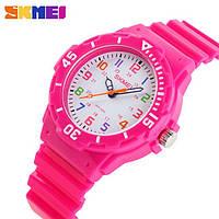 Детские часы Skmei Rubber Pink 50 метров водозащита